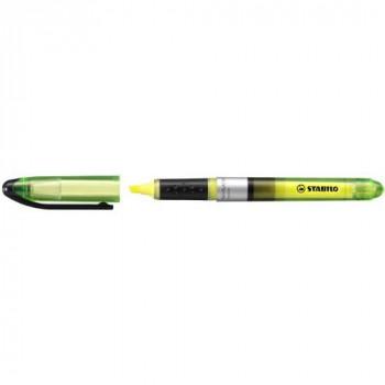 Stabilo Navigator Highlighter Water-based Soft-grip Slimline 1-4mm Line Yellow Ref 545/24 [Pack of 10]