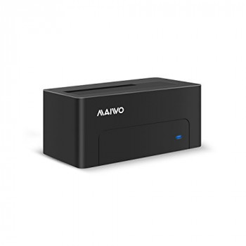 Maiwo USB 3.0 to SATA External Hard Drive Docking Station for 2.5 or 3.5inch HDD, SSD Tool free K308NEW black
