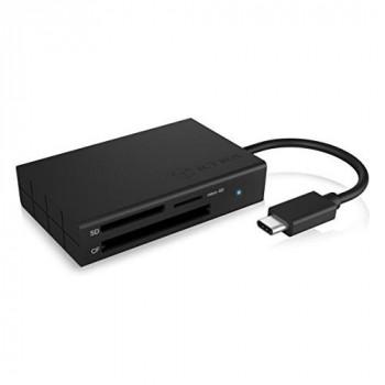 ICY BOX USB-C UHS-II Card Reader for CF, microSD and SD Cards, USB 3.0, SD 4.0, Aluminium