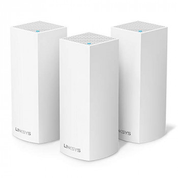 Linksys WHW0303-UK Velop Tri-Band AC6600 Intelligent Whole Home Mesh Wi-Fi System, Compatible with Alexa, White, Pack of 3