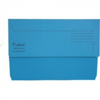 Exacompta 211/5001Z Guildhall Foolscap Bright Manila Wallet - Blue