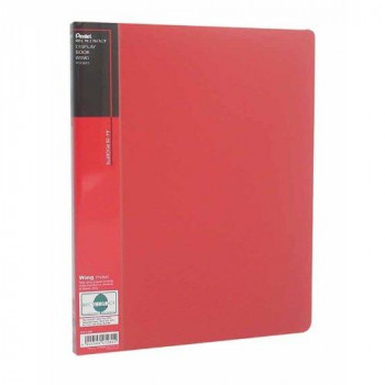 Pentel A4 Recycology Display Book with 20 Wing Pocket - Red
