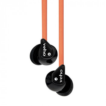Veho Z-1 In-Ear Headphones | Anti Tangle Cable | Stereo Noise Isolating | Earbuds | Earphones - Orange (VEP-003-360Z1GB)