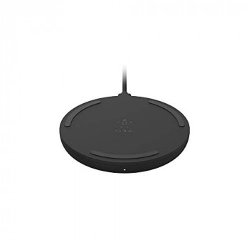 Belkin BoostCharge Wireless Charging Pad 10W (Qi-Certified Fast Wireless Charger for iPhone, Samsung, Google, More), Black – Doesn't Include the Wall Adapter