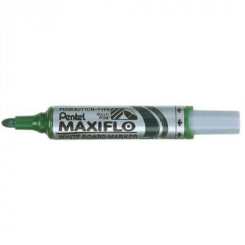 Pentel Maxiflo Drywipe Marker Pen - Green, Box of 12