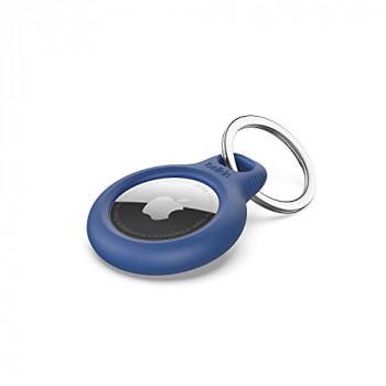 Belkin AirTag Case with Key Ring (Secure Holder Protective Cover for Air Tag with Scratch Resistance Accessory) - Blue
