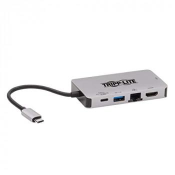 Tripp Lite USB-C Docking Station Dual Display - 4K HDMI, VGA, USB 3.2 Gen 1, USB-A/C Hub, GbE, 100W PD Charging (U442-DOCK6-GY)