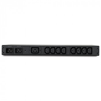 APC Rack-Mount Transfer Switches Rack ATS, 230V, 16A, C20 in, (8) C13 (1) C19 out