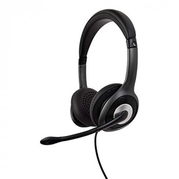V7 HU530C Mono Bluetooth Wireless Headset Detachable Headband Microphone for PC, MAC, iPhone, Android, Bluetooth 5.0, Microsoft Teams, Zoom, Google Voice, Skype