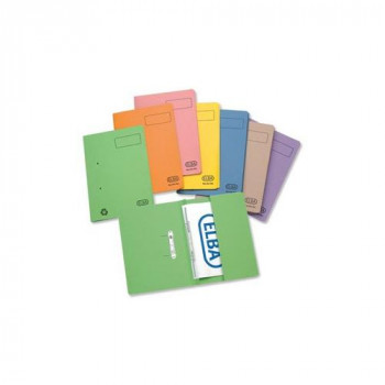 Elba Stratford Transfer Spring File Recycled Pocket 315gsm 32mm Foolscap Blue Ref 100090146 [Pack 25]