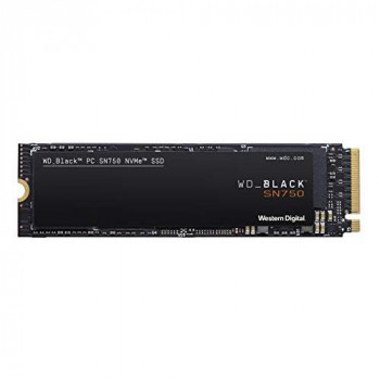 WD Black SN750 High-Performance NVMe Internal Gaming SSD, 250 GB