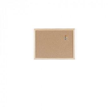 Bi-Office MC010012010 400 x 300 mm Wood Frame Cork Notice Board