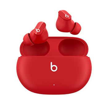 Beats Studio Buds – True Wireless Noise Cancelling Earbuds – IPX4 rating, Sweat Resistant Earphones, Compatible with Apple & Android, Class 1 Bluetooth, Built-in Microphone – Beats Red