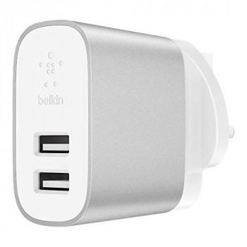 Belkin Boost Charge 2 - Port Home Charger - 24 W Multi-USB Charger for iPhone XS, XS Max, XR, Samsung Note9, S9, S9+ and More