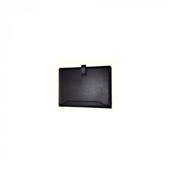 Monolith Leather Look PU Conference Folder with A4 Pad - Black