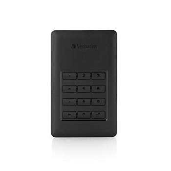 Verbatim 53403 2 TB Store 'n' Go Secure Portable HDD with Keypad Access - Black