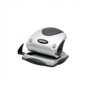 Rexel Precision P215 2 Hole Punch Black/Silver 15 Sheet Capacity and Non-Slip Feet