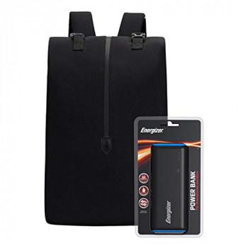 Energizer EPB004 Laptop Charging Bag with UE10007 Power Bank - Black