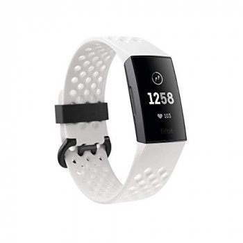 Fitbit Charge 3 NFC Special Edition Advanced Fitness Tracker with Heart Rate, Swim Tracking & 7 Day Battery - Graphite/White, One Size