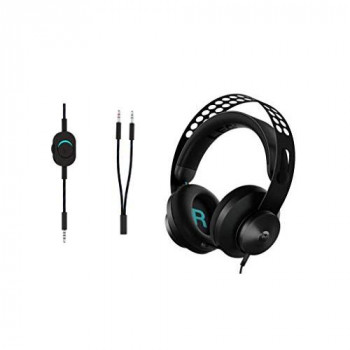 Lenovo Legion H300 Stereo Gaming Headset, Noise-Cancelling Mic, Memory Foam & PU Leather Earcups, Stainless Steel Headband, PC, PS4, Xbox One, Nintendo Switch, Mac, GXD0T69863, Black