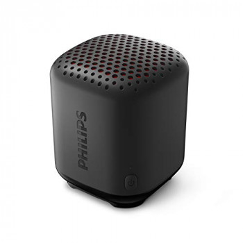 Philips Audio Bluetooth Speaker S1505B/00 (Durable and IPX7 Waterproof, 8 Hours' Playback Time, Passive Bass Radiator, 20-m Range, Incl. Lanyard) Black – 2020/2021 Model