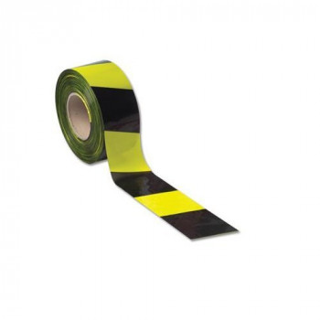 LSM 006-0107 75 mm x 500 m Barrier Tape - Yellow/Black