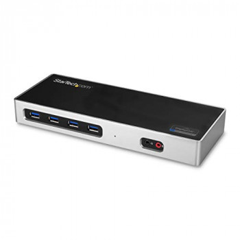 StarTech.com DK30A2DH Dual 4K Docking Station with 6 USB 3.0 Ports, Dual DisplayPort and HDMI Docking Station, Mac and Windows Compatible