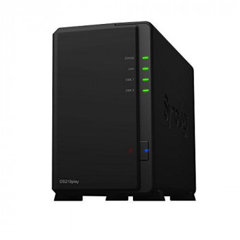 Synology DS218play 2TB (2 x 1TB WD RED) 2 Bay Desktop NAS Unit