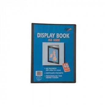 Tiger presentation display book A3 10 pockets black folio