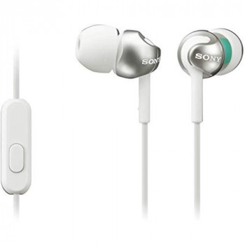 Sony MDREX110APW.CE7 Deep Bass Earphones with Smartphone Control and Mic - Metallic White