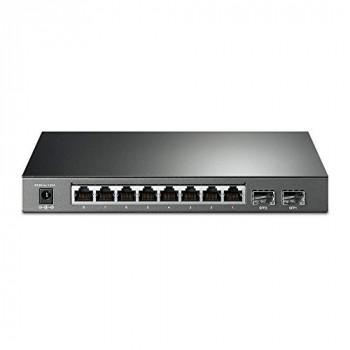 TP-Link TL-SG2210P V3 JetStream 8-Port Gigabit Smart PoE+ Switch with 2 SFP Slots (Supports 8 Gigabit PoE Ports, 58W Budget, Fanless)