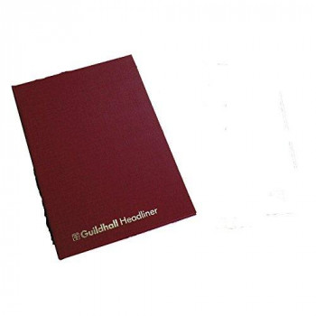 Exacompta Guildhall Headliner Account Book, 298 x 203 mm, 12 Cash Column, 80 Pages