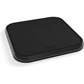 Zens Qi-certified Single Fast Aluminium Wireless Charger, Supports Fast Wireless Charging with up to 10 Watts - Works with all phones with wireless charging