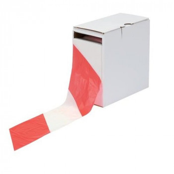 LSM 006-0100 75 mm x 500 m Barrier Tape - Red/White
