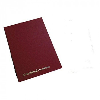 Exacompta Guildhall Headliner Account Book, 6 Cash Column, 298 x 203 mm, 80 Pages