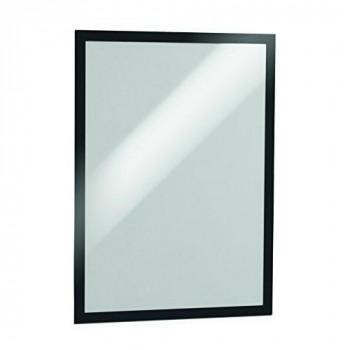 Durable 487301 Duraframe, Self Adhesive Magnetic Display Frame, A3 - Black, Pack of 2