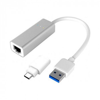 USB Adapter USB 3.0 Gigabit + Convert. Type C