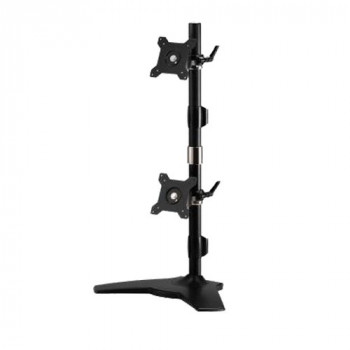 "Amer amr2sv 24"" Freestanding Black Flat Panel Desk Mount Stand for TV"