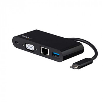 StarTech USB C Multiport Adapter - VGA/USB 3.0 / GbE - Power Delivery Charging (60W) - Mac/Windows / Chrome OS - USB C Adapter