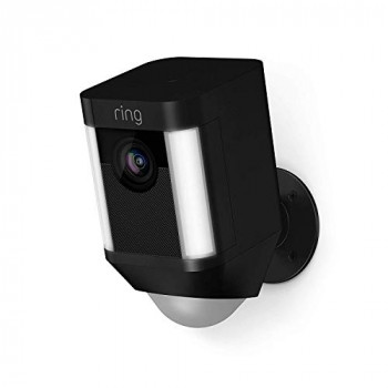 Ring Spotlight Cam Battery HD Security Camera with LED Spotlight, Alarm, Two-Way Talk, Battery Operated