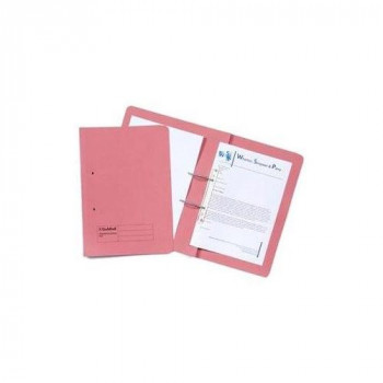 """GUILDHALL 211/9064Z 420 GSM """"Manilla """" Pocket Spiral File with Right Hand Pocket - Pink"""