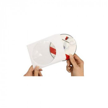 Avery SL1760-100 Paper Sleeves for CDs and DVDs with Clear Window (100 Sleeves, Each 126 x 126 mm)