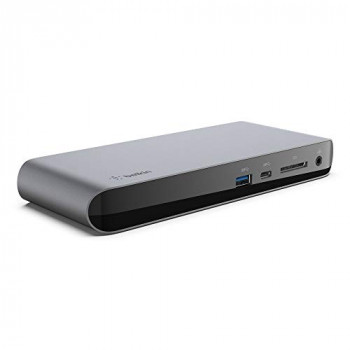 Belkin Thunderbolt 3 Dock Pro with 2.6 ft Thunderbolt 3 Cable (Thunderbolt Dock for macOS and Windows) Dual 4K @60Hz, 40 Gbps Transfer Speeds, 85 W Upstream Charging
