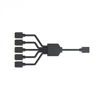 Cooler Master ARGB 1-to-5 Splitter Cable, 3-Pin LED Connector, 58 cm