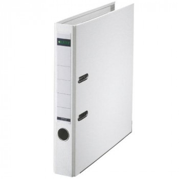 Leitz 50mm A4 180 Degree Plastic Lever Arch File Spine - White, Single