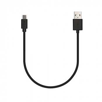 Veho Pebble USB-A to micro-USB Cable | Universal Charge and Sync | 0.2m/0.7ft | Charging Lead | Data Transfer – Black (VCL-001-M-20CM)
