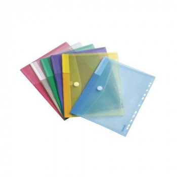 Tarifold A4 Punched Envelope - Assorted Colours (Pack of 12)