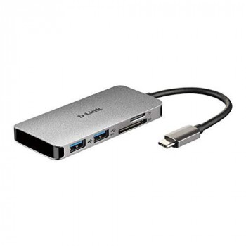 D-Link DUB-M610 6-in-1 USB-C Hub with Power Delivery, HDMI 1.4, 2 USB 3.0 Ports, SD/MicroSD Card Reader for MacBook Pro 2016 or Later, MacBook Air 2018, Chromebook and Surface Pro 7