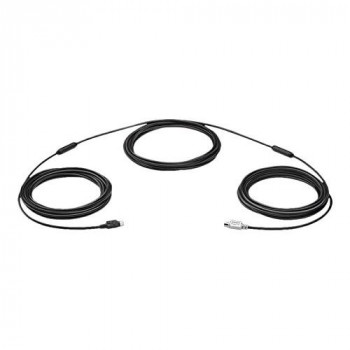 Logitech 939-001490 Mini-DIN 6-P Cable PS/2 15 m Black