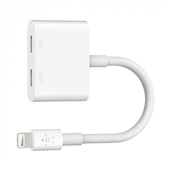 Belkin Lightning Audio + Charge Rockstar (iPhone Lightning Audio Adapter/iPhone Charging Adapter for iPhone XS, XS Max, XR, X, 8/8 Plus and more)